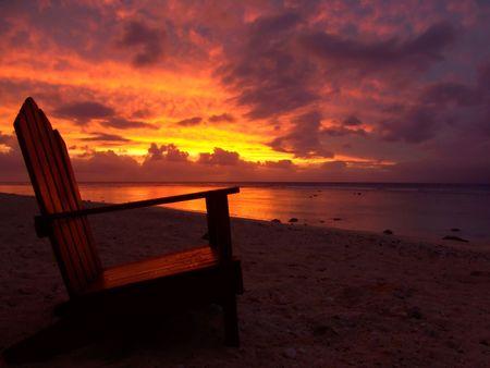 Chair on Beach photo