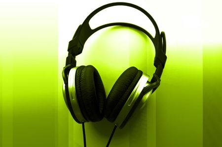 Headphones Abstract Stock Photo