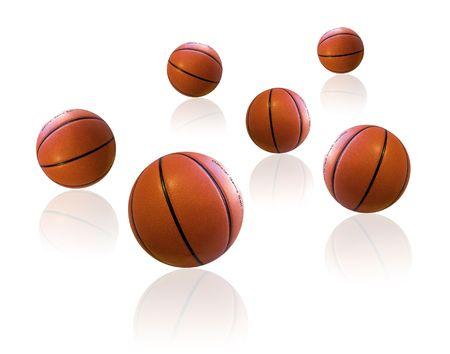 basketballs: Basketballs on white floor