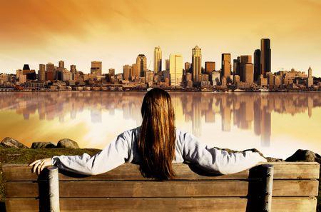seattle: Chica busca en la ciudad de Seattle