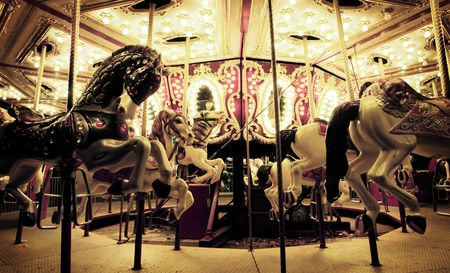 fairground: Fairground Carousel Stock Photo