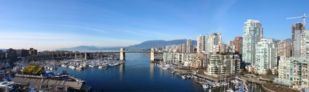 Stunning Panorama of Vancouver, BC Stock Photo
