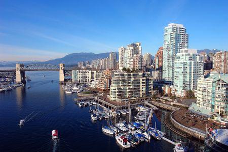 Scenic Vancouver Harbour Stock Photo