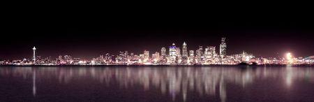 City of Seattle skyline at night photo