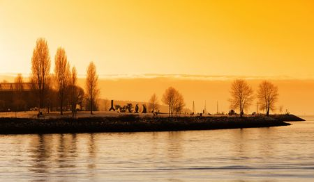 port stanley: Beautiful Sunset in Vancouver, BC
