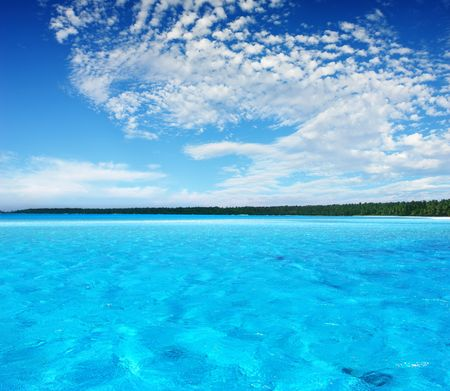 Ripples in Turquoise Lagoon Stock Photo - 919673