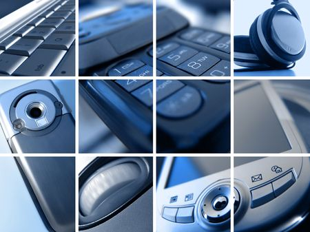 Montage of Abstract Technology Images Stock Photo - 1216133