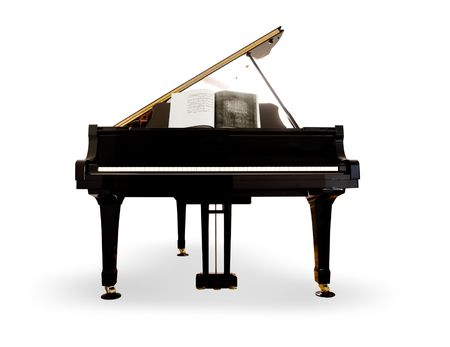 Grand Piano on white background