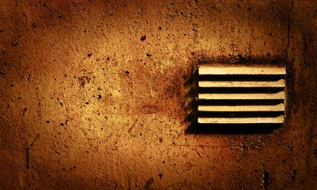 Grunge Style Wall with old air vent Stock Photo - 2043060