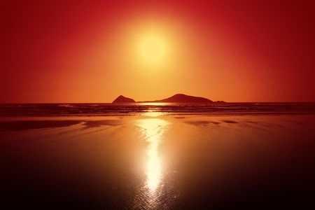 Beautiful Sunset at a beach on Wilsons Prom Stock Photo - 2677019