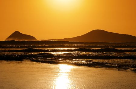 Waves crashing into shore on Australian beach Stock Photo - 2677023