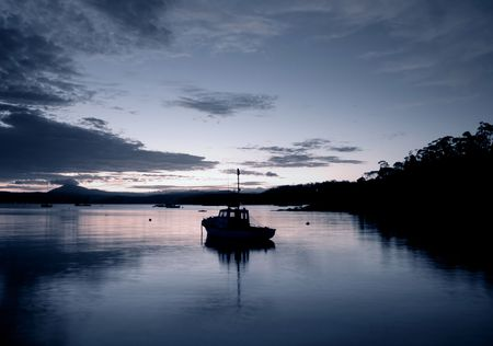 Fishing Boat in Eden Stock Photo - 2677016