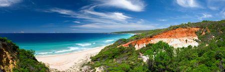 Beautiful Panoramic Photo of Long Beach, Australia Stock Photo - 2677055