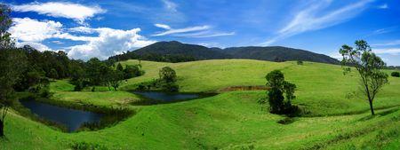 Rural panorámicas de la Bega región del valle de Nueva Gales del Sur