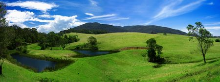 Rural Panoramic of the Bega Valley region of NSW Stock Photo - 2677054