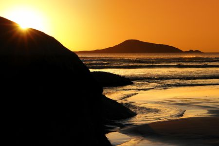 Beautiful Sunset at Wilsons Prom Stock Photo - 2681263