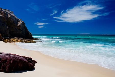 unspoilt: Beautiful Unspoilt Beach on the NSW South Coast Stock Photo