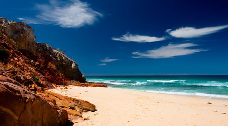 unspoilt: Secluded Australian Beach Stock Photo