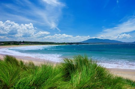 nsw: Colourful Beach on the NSW South Coast