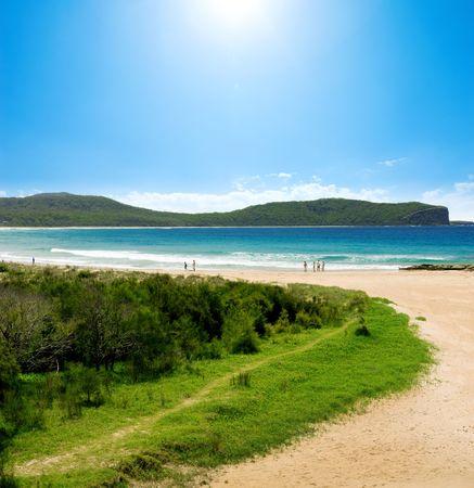Summer vacation at Australian Beach Stock Photo - 2682312