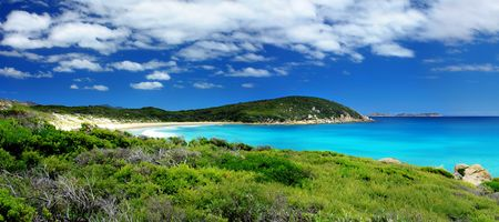 Beautiful Panoramic Beach Landscape Stock Photo - 2681581