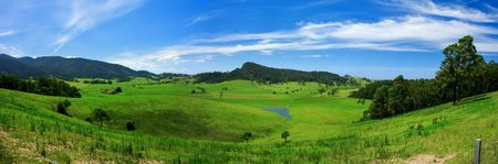 unspoilt: Panoramic photo of a rural landscape