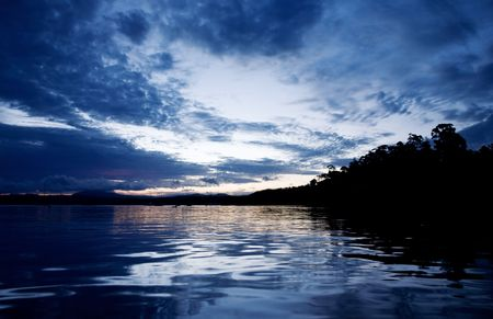 Calm water at Dusk Stock Photo - 2840200