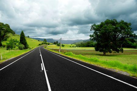 Scenic Country Road Stock Photo