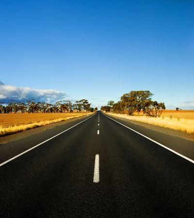 Straight Road in rural Australia photo