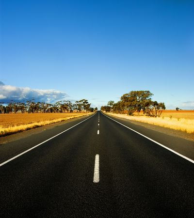 Straight Road in rural Australia