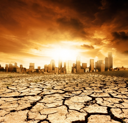 earth pollution: Global Warming Concept Image Stock Photo