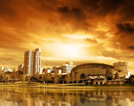 adelaide: City of Adelaide - River Torrens Stock Photo