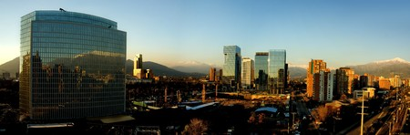 santiago: Panoramic image of the city of Santiago, Chile