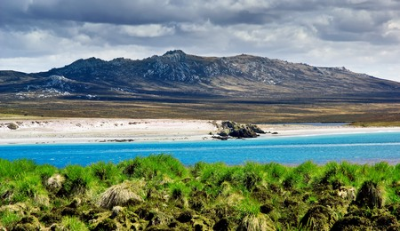 falkland: A rugged mountain range in the Falkland Islands Stock Photo