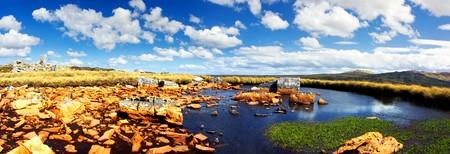 falkland: Panorama of a rocky Falkland Islands landscape