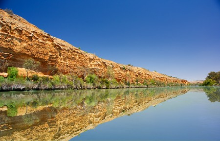 Cliffs on the Murray River in South Australia