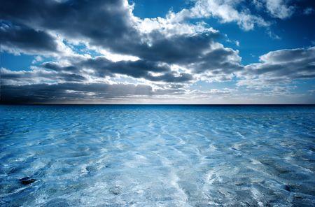 ripple: Sun setting over peaceful water