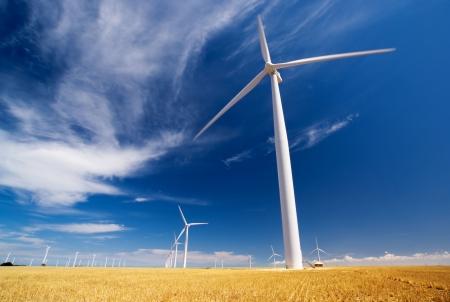 A wind farm in South Australia Stock Photo