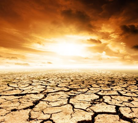 dire: Global Warming Concept Image Stock Photo