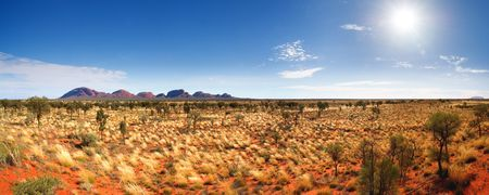 The Olgas and Uluru Stock Photo