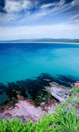 Beautiful beach view from a clifftop Stock Photo - 5503124