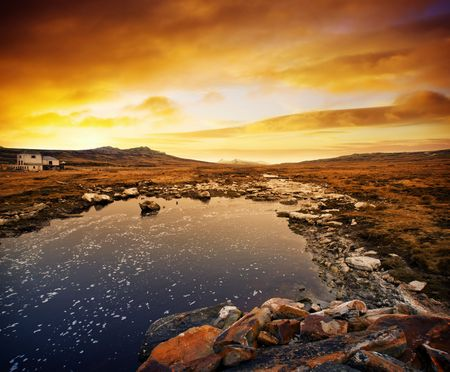 Gorgeous winter scene in the Falkland Islands photo