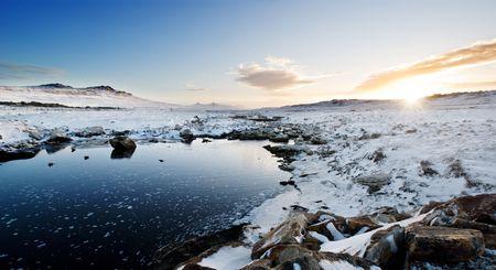 falkland: A snow landscape in the Falkland Islands