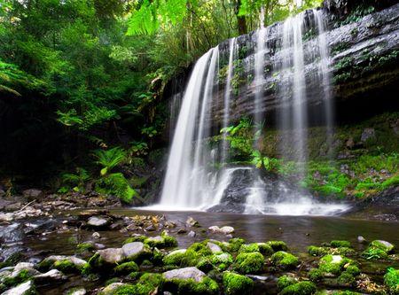 Russell Falls in Tasmania, Australia