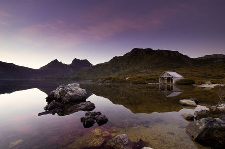 tasmania: Peaceful Sunrise over Cradle Mountain, Tasmania