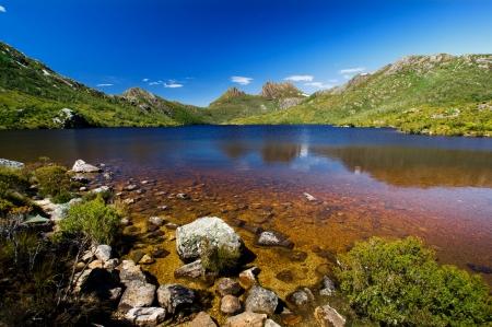 크레이들 마운틴의 아름다운 호수