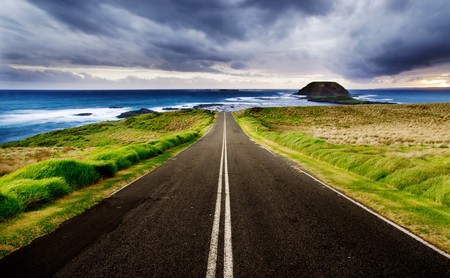 street life: Road leads to a beautiful coastline