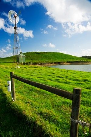 sustainable tourism: Windmill on a farm in Victoria, Australia