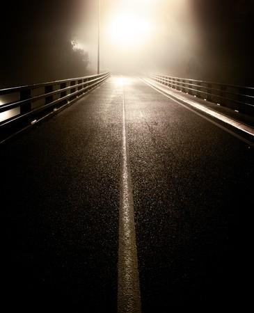 leading light: Bridge leading into the glowing light