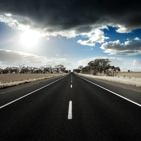endless: Straight Road in rural Australia